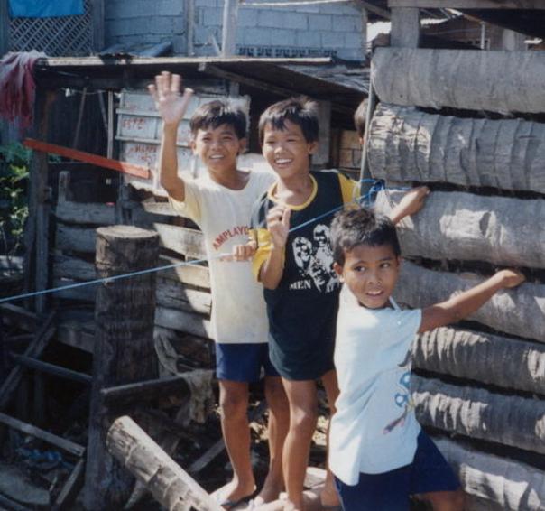 Three Boys at Sasa Pier, Davao